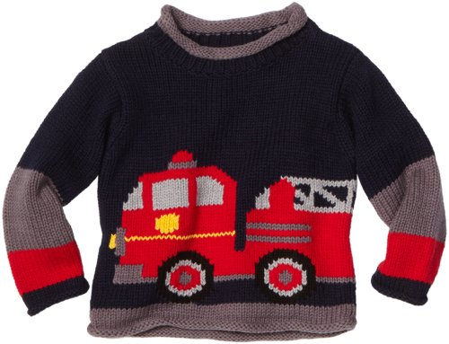 Mulberribush Baby Boys' Fire Engine Sweater
