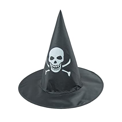 b21d76efdd2 Buy Wizard Hats Skull Pattern Witch Hat Amosfun Party Hat Halloween Costumes  for Children Adult Online at Low Prices in India - Amazon.in