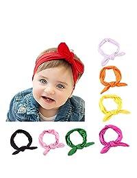 My Little Baby® Baby Girls Toddler Bow Headbands Turban Knot Rabbit Hairband Headwear