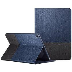 New iPad 9.7 2017 Case, ESR Urban Series Premium Folio Case, Book Cover Design, Multi-Angle Viewing Stand, Smart Cover Auto Sleep/Wake Function for Apple iPad 9.7-inch 2017 (Knight Blue)