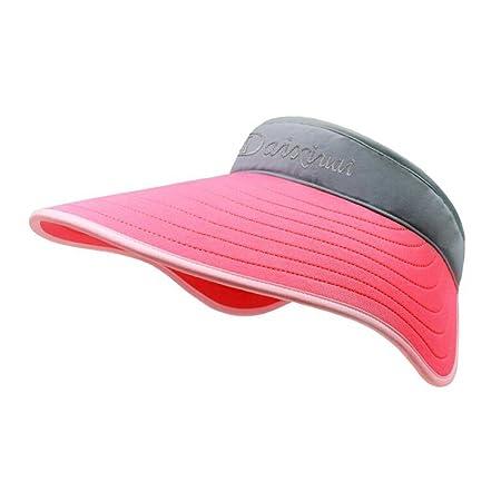 0d5826b5d77 CJC Sun Hats Women Summer Hat Outdoor UV Protection Wide Large Brim Cap  Beach Visor Caps Foldable (Color   Red)  Amazon.co.uk  Kitchen   Home