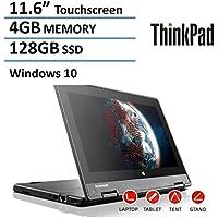 2016 Model Lenovo Thinkpad Yoga 11.6-inch 2-in-1 Convertible IPS Touchscreen Laptop | Intel Quad Core | 4GB RAM | 128GB SSD | HDMI | Bluetooth | WiFi | Windows 10 Pro