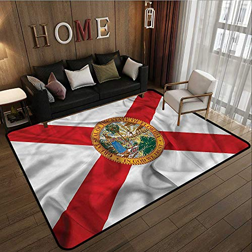 - Kids Rug American State of Florida Flowers Rustic Home Decor 5'10