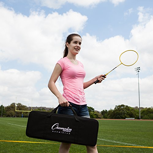 Champion Sports Outdoor Badminton Set: Net, Poles, 4 Rackets, 4 Shuttlecocks & Bag - Portable Equipment for Backyard Games, Team Sports, Adults & Kids by Champion Sports (Image #9)