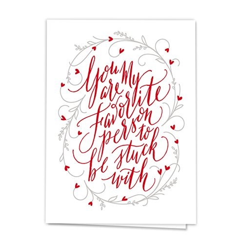 Stuck with You Note Card Pack - Set of 18 cards - blank inside with envelopes