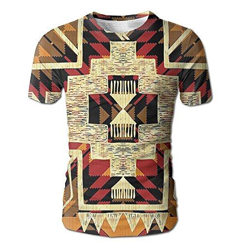 Kooiico Men's Arrow Native American Inspired Retro Aztec Pattern Mod Graphic Design Boho Chic Funny T Shirt White L -