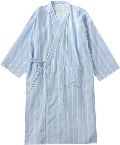 Camisón japonés para Hombre, Pijama, Kimono, algodón, camisón [B3, Talla L]: Amazon.es: Ropa y accesorios