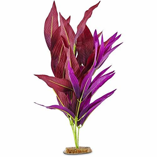 - Imagitarium Purple Leaf Silk Aquarium Plant, Large