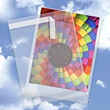 10'' x 13'' Crystal Clear Cello Sleeves (100 Pack) - Resealable Cellophane Envelope w/Self Adhesive Flap - Plastic Bags For Greeting Cards, Photos, Letters - USPS Mailer (1.6 Mil Thick) CELLO10X13CL100