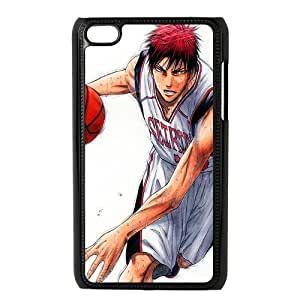 Custom Japanese sports manga series Kuroko's Basketball IPod Touch 4/4G/4th Generation Hard Plastic Shell Case Cover White&Black(HD image)