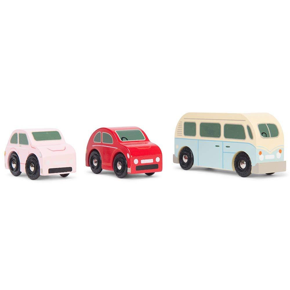 Le Toy Van Wooden Retro Metro Car Set