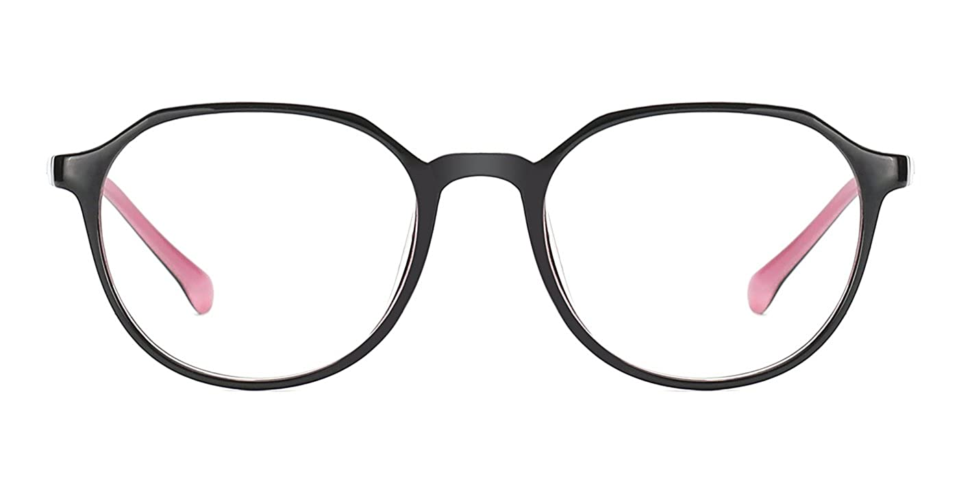 ea97fc657e2e TIJN Retro Men Women Full Round Rim Eyeglasses Non Prescription Glasses  Frames  Amazon.co.uk  Clothing