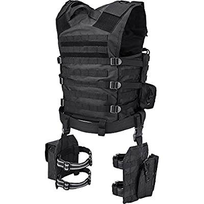 BARSKA Men's Loaded Gear VX-100 Tactital Vest Leg Platform - BI12016
