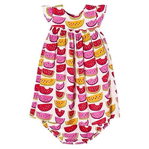 Pink Chicken Happy by Watermelon Flutter Sleeve Toddler Dress (6-12)
