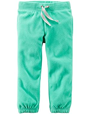 Baby Girls' Fleece Active Pants (12M, Mint)
