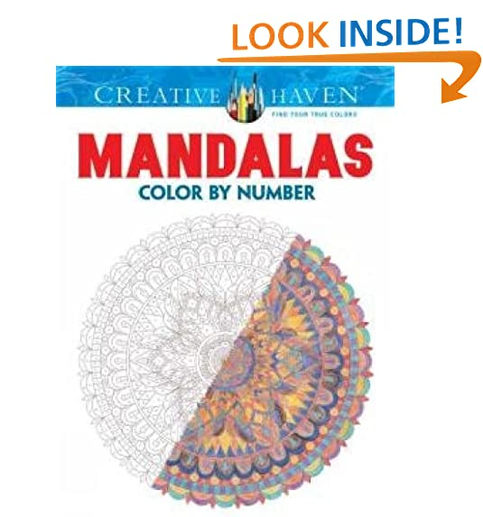 Creative Haven Mandalas Color By Number Coloring Book Adult