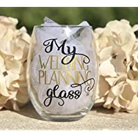 My Wedding planning wine glass for bride to be