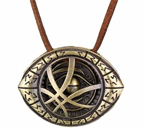 (Marvels Doctor Strange Eye Bronze Pendant Necklace)