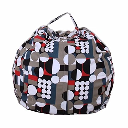 Kid's Stuffed Animal Storage Bean Bag Chair with Extra Long Zipper, Carrying Handle, Large Size, Stuffed Toy Organizer & Perfect Storage Solution