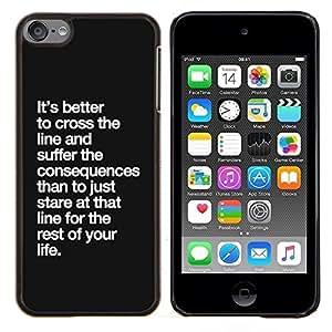 Planetar® ( Cruce Las consecuencias Línea Vida inspiración ) Apple iPod Touch 6 6th Touch6 Fundas Cover Cubre Hard Case Cover