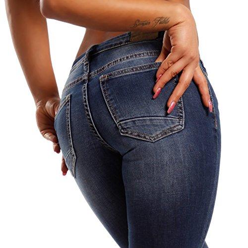 skinny Fashion Azul mujer Young para Vaqueros Básico EpwxCfZq