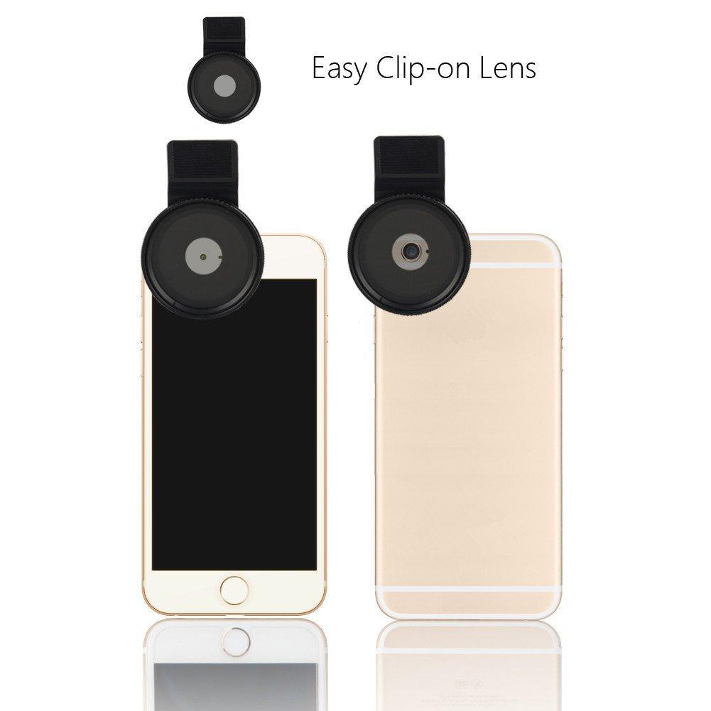 6S Plus Samsung Galaxy und Android Smartphones ZOMEI Einstellbare Neutral-Dichte Clip-On ND 2-400 Objektiv-Filter mit Clip f/ür iPhone 6S ND2-ND400 ND-Filter