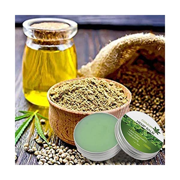 Natural Hemp Pain Relief Balm (30ml) – Womdee Hemp Healing Skin Ointment, Anti-Inflammatory for Joints and Muscles & Pain Relief & Refreshing