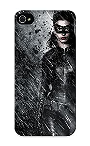ipod touch4 Case Cover - Slim Fit Tpu Protector Shock Absorbent Case (dark Knight Rises Batman Superhero Catwoman Rain )