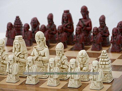最新のデザイン Egyptian Ornamental Chess board) Set red, (cream and Set red, no board) B0716ZNRWW, ASTUTE:c02c4663 --- nicolasalvioli.com