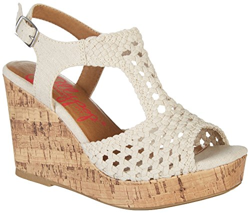 Jellypop Dames Vilnius Junior Sleehak Sandalen Naturel