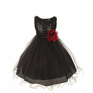 Zerototens Princess Dress for 0-9 Years Old Children,Girls Bling Sequins Flower Sleeveless