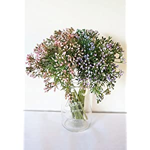 Sweet Home Deco 11'' Artificial Seeded Greenery Bouquet (10 Stems) for Wedding/Home Decoration Craft Flowers 71