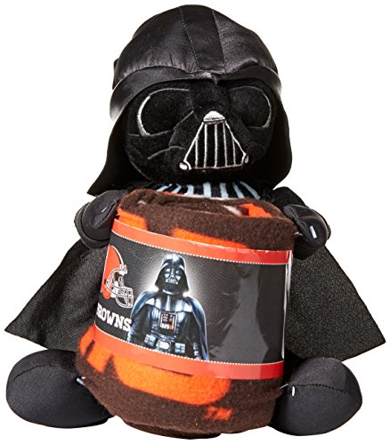 The Northwest Company Officially Licensed NFL Cleveland Browns Co Star Wars' Vader Hugger with Fleece Throw Blanket Set