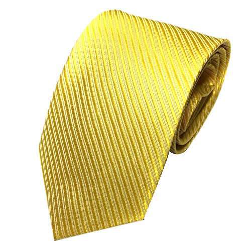 - Unisex Novelty Men's Striped Plaid Dress Hand Tie Classic Jacquard Woven Necktie Tie Party Wedding Formal Business Tie (yellow)