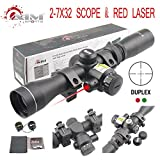 TACFUN AIM Sports 2-7X32MM Long Eye Relief Scout Scope with RED Laser & Duplex Reticle Review