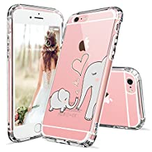 iPhone 6s Case, Cute iPhone 6 Case, MOSNOVO Cute Elephant Pattern Clear Design Printed Transparent Plastic Hard Back Case with Soft TPU Bumper Gel Protective Case Cover for iPhone 6 6s (4.7 Inch)