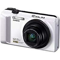 Casio Exilim EX-ZR200 High Speed 16 MP, 12x Optical Zoom Compact Digital Camera (White)