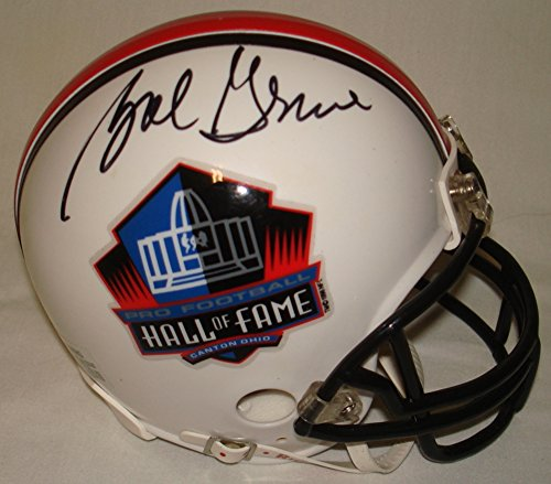 Bob Griese Hand Signed / Autographed Hall of Fame Miami Dolphins Mini Football Helmet - JSA - Bat Hall Mini Of Fame