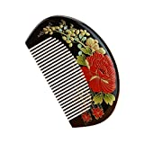 Product review for Natural Top Boxwood Comb High-quality Daisy-Y Hand-painted Art Fine Tooth Pocket Comb