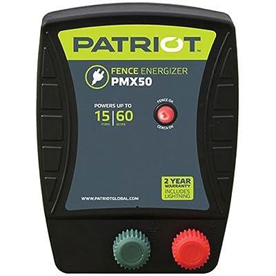 Patriot PMX50 Electric Fence Energizer, 0.50 Joule