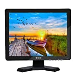 Eyoyo 15'' Inch Monitor 1024x768 HDMI Monitor 4:3 TFT LCD Color Screen with BNC/VGA/AV/HDMI/USB Earphone Output for PC Laptop Security Monitoring Built-in Speaker