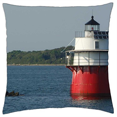 Lighthouse in Plymouth,MA - Throw Pillow Cover Case (16