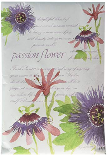 Fresh Scents Scented Sachets - Passion Flower, Lot of 6 (Lily Of The Valley Essential Oil Fragrance)