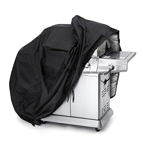 Awnic Grillabdeckung BBQ Abdeckung für Grill Medium 145 cm Beständig 210T Taft Wasserdicht Anti-UV Anti-Staub -Schwarz/Silber
