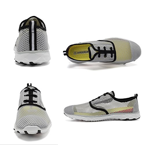 Aqua Shoes Dry 18 Womens Walking Wading Holes rlsm Men Swim Sports Fanture Water Gray02 Drainage Yoga Quick Beach Drainage qwAp8Yxf
