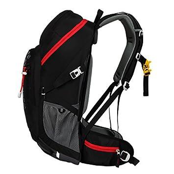 Kimlee Internal Frame Pack Waterproof Hiking Daypack Camping Backpack Trekking Outdoor Gear Black