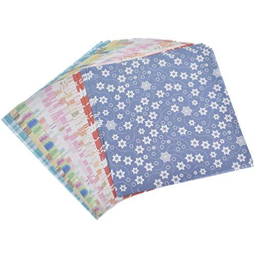 [해외]Hongma 종이 접기 꽃 종이 접기 수 공용 색종이로 공제 용 사각 단 면 12 칼자루 15cm 72 매 세트 / Hongma Origami flower pattern Origami Chiseishi Square single face 12 pattern 15cm 72 Sheets Set
