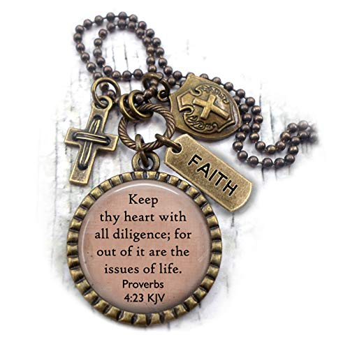 Keep Thy Heart With All Diligence, Proverbs 4:23 KJV, Scripture, Bible Verse, Christian Men, Boys, Teens, Unisex