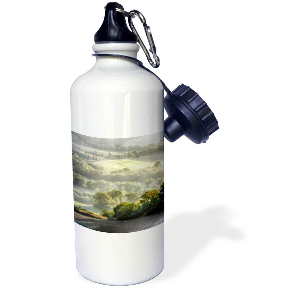 3dRose Danita Delimont - Italy - Italy, Tuscany, Morning light over the fields of Winter Wheat. - 21 oz Sports Water Bottle (wb_277683_1)