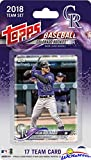 Colorado Rockies 2018 Topps Baseball EXCLUSIVE Special Limited Edition 17 Card Complete Team Set with Nolan Arenado, Raimel Tapia & Many More Stars & Rookies! Shipped in Bubble Mailer! WOWZZER!